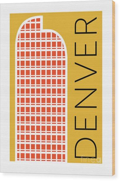 Denver Cash Register Bldg/gold Wood Print