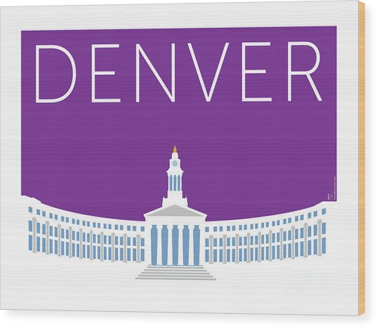Denver City And County Bldg/purple Wood Print