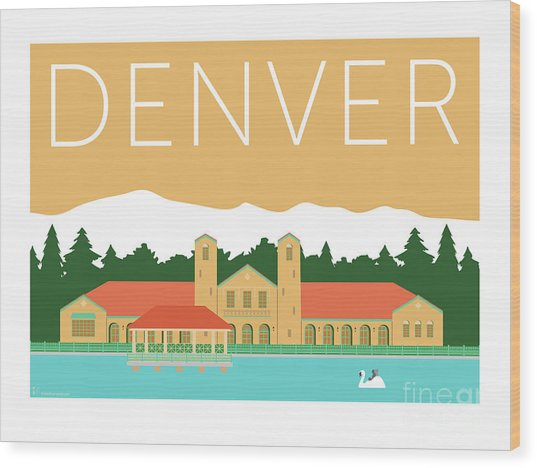 Denver City Park/adobe Wood Print
