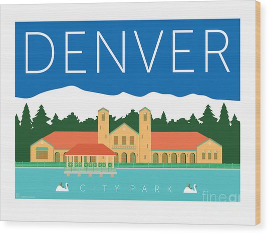 Denver City Park Wood Print