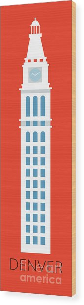 Denver D And F Tower/tall Wood Print
