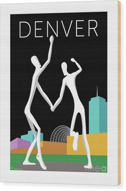 Denver Dancers/black Wood Print