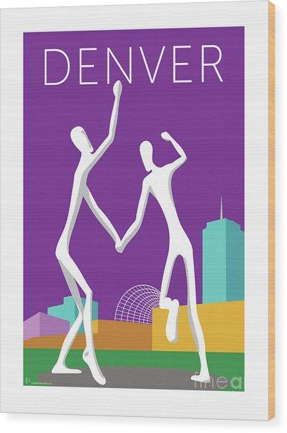 Denver Dancers/purple Wood Print