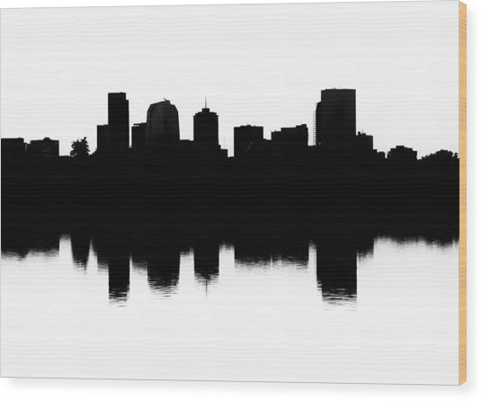 Denver Silhouette Wood Print