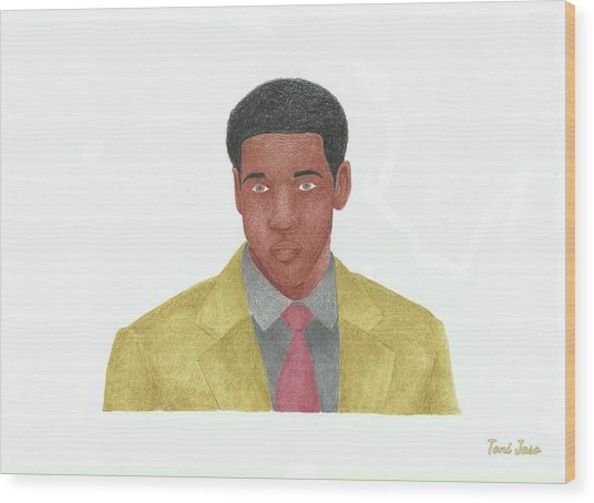 Denzel Washington Wood Print