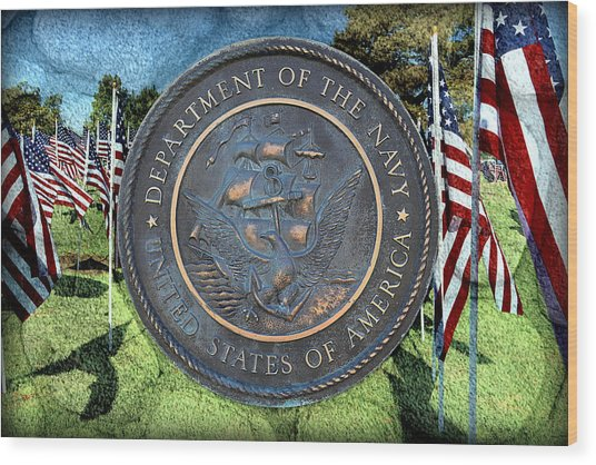 Department Of The Navy - United States Wood Print