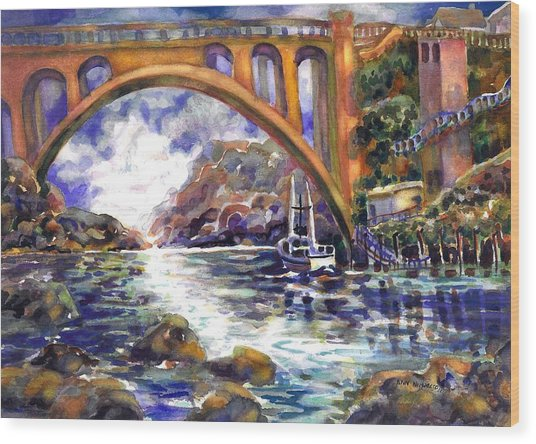 Depoe Bay Bridge Wood Print