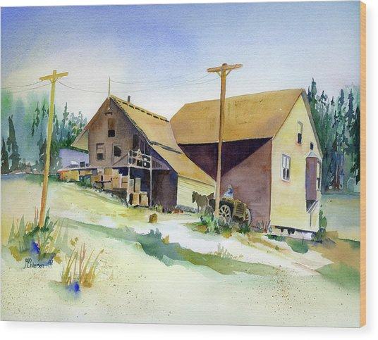Depot Hill, Dutch Flat,1910 Wood Print