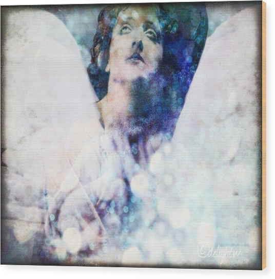 Wood Print featuring the digital art Depression Angel by Delight Worthyn
