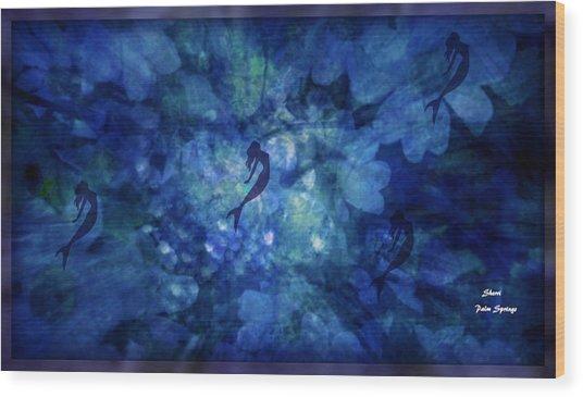Depth Of Underwater Beauty Wood Print