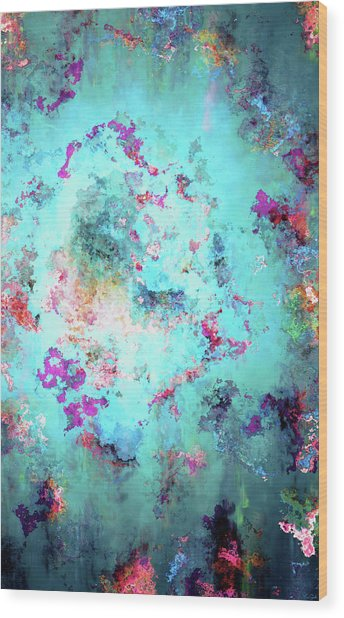Wood Print featuring the digital art Depths Of Emotion - Abstract Art by Jaison Cianelli
