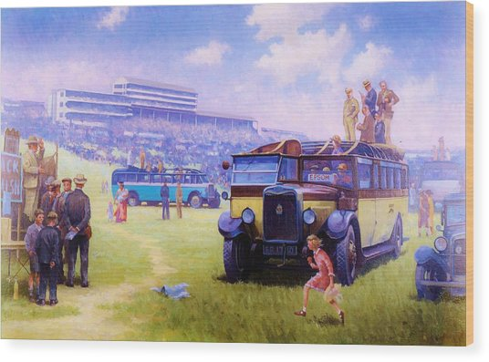 Derby Day Epsom 1929. Wood Print