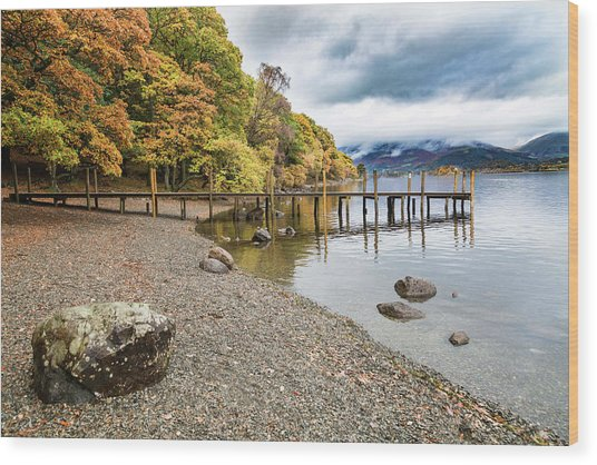 Derwent Jetty Wood Print