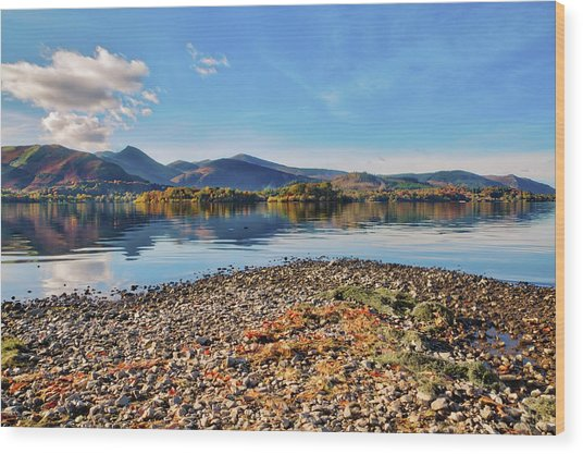 Derwent Shoreline Wood Print