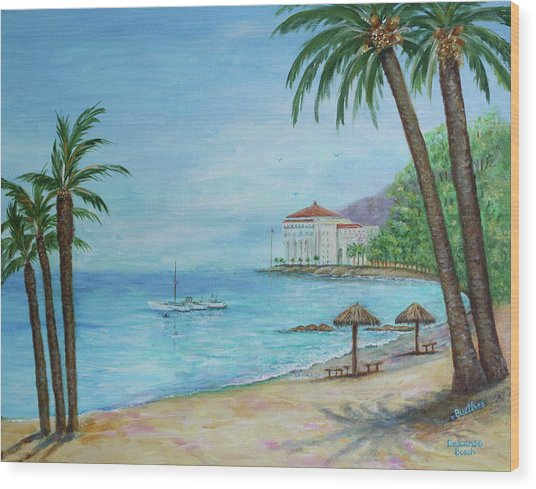 Descanso Beach, Catalina Wood Print
