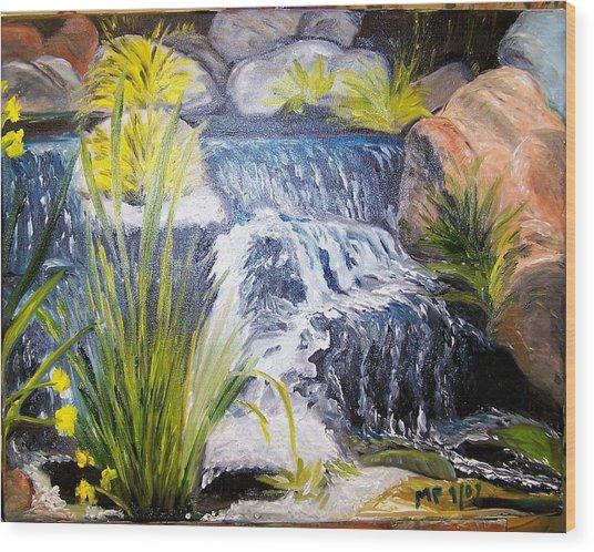 Descanso Waterfall Wood Print by Madeleine Prochazka