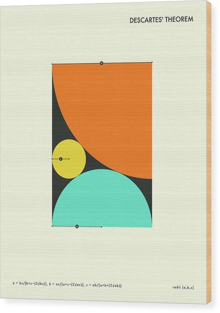 Descartes Theorem Wood Print