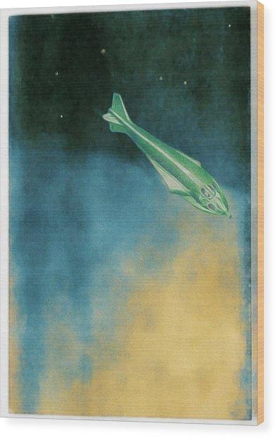 Descent Into Jupiter Wood Print