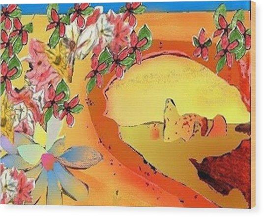 Desert Bridge Wood Print