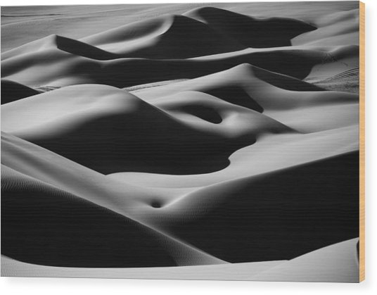 Desert Curves Wood Print