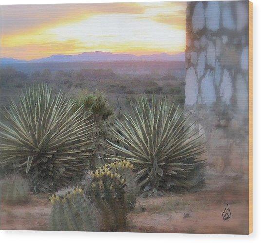 Desert Dawn Wood Print by Kathy Simandl