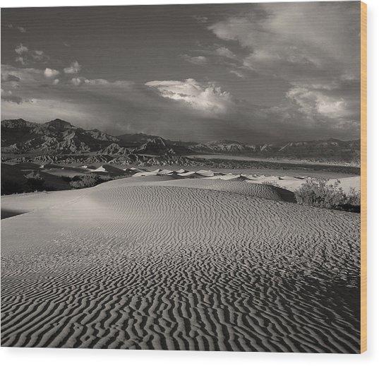 Desert Dunes Wood Print by Gary Cloud