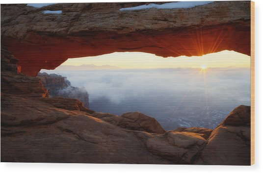 Desert Fog Wood Print