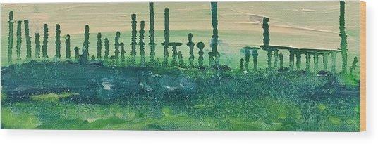Desert Horizon Vertical Wood Print