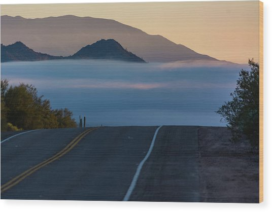 Desert Inversion Highway Wood Print