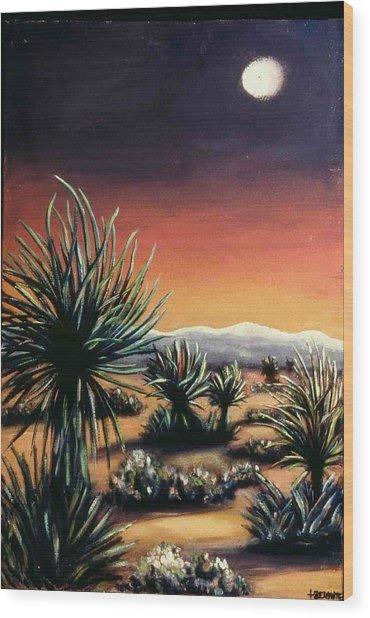 Desert Moon Wood Print by Helen O Hara