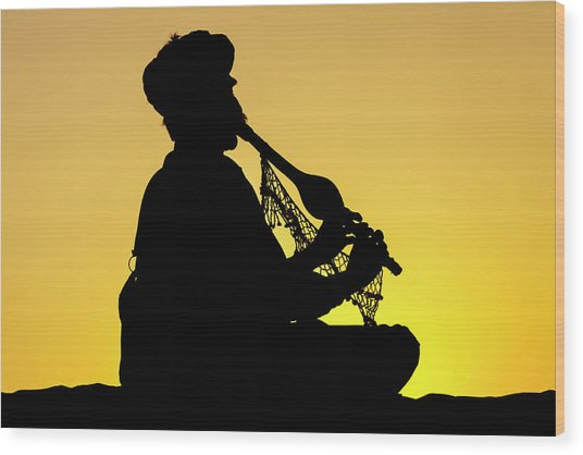 Desert Music, Jaisalmer, India Wood Print