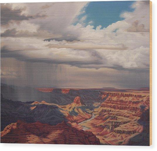 Desert Palisades Wood Print