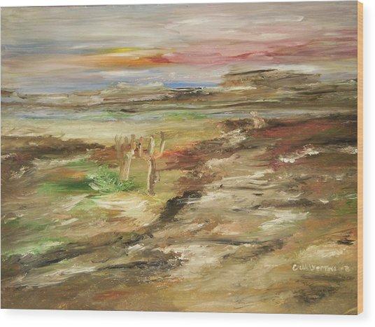 Desert Pass Wood Print by Edward Wolverton