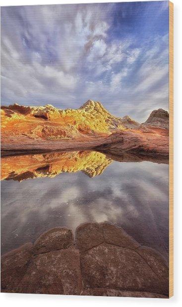 Desert Rock Drama Wood Print