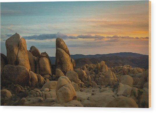Desert Rocks Wood Print