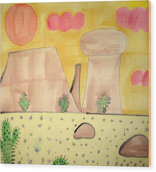 Desert Wood Print by Sean Cusack