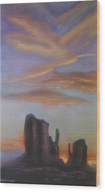 Desert Sky Wood Print by Helen O Hara