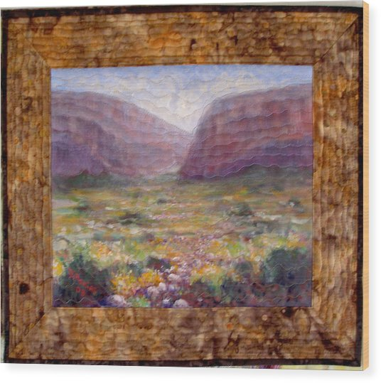 Desert Spring Wood Print by Diane and Donelli  DiMaria