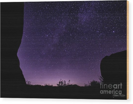 Desert Starscape Wood Print
