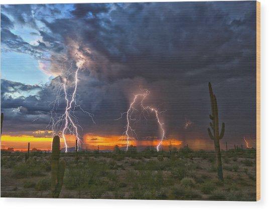 Desert Strike Wood Print