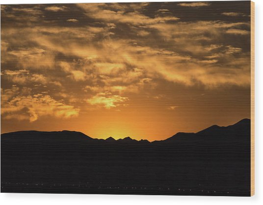 Desert Sunrise Wood Print
