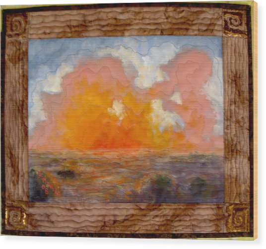 Desert Sunset Wood Print by Diane and Donelli  DiMaria