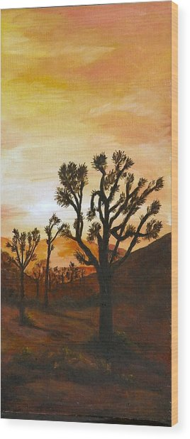 Desert Sunset II Wood Print by Merle Blair