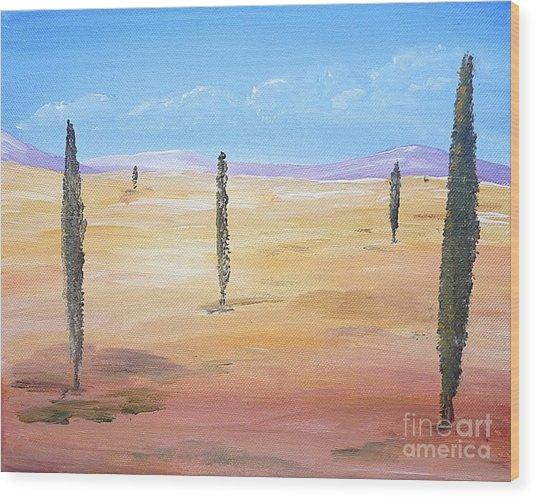 Desert - Surreal Wood Print