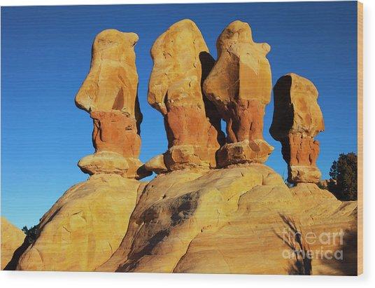 Desert Trolls Wood Print