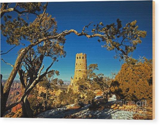 Desert View Watchtower, Grand Canyon National Park, Arizona Wood Print