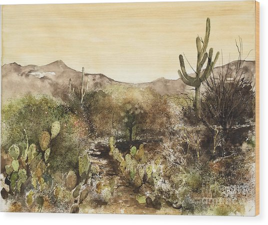 Desert Walk Wood Print
