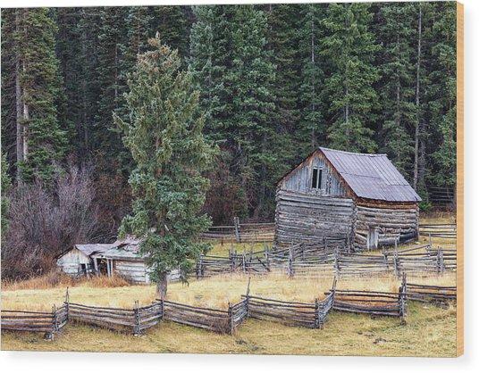 Deserted Farm Wood Print