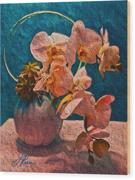 Designer Floral Arrangement Wood Print