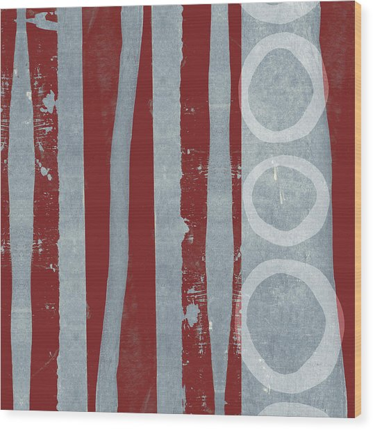Designer Series Red And Blue 7 Of 11 Wood Print